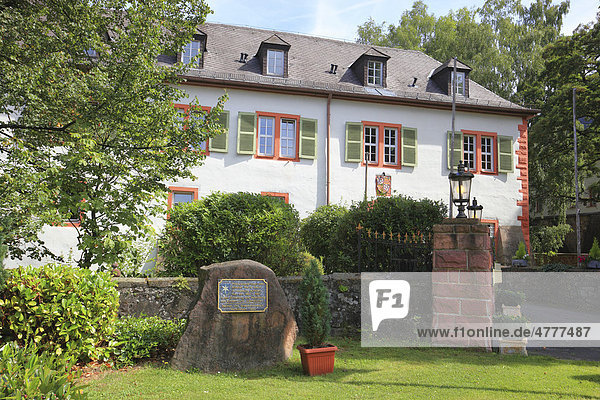 Schloss Rothenbuch  ehemaliges Jagdschloss  heute Hotel  Landkreis Aschaffenburg  Unterfranken  Bayern  Deutschland  Europa