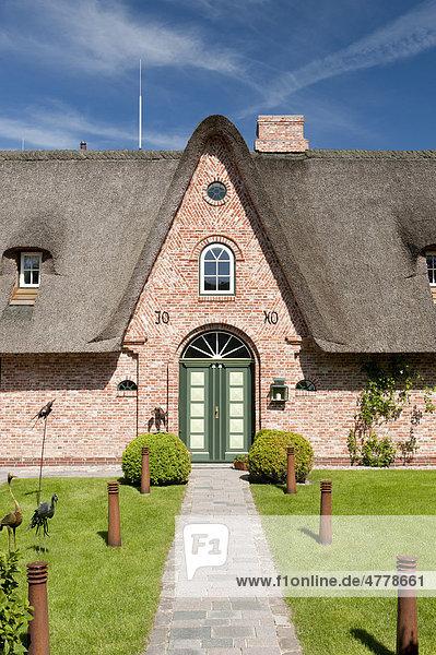 Friesenhaus  Sylt  Schleswig-Holstein  Deutschland  Europa