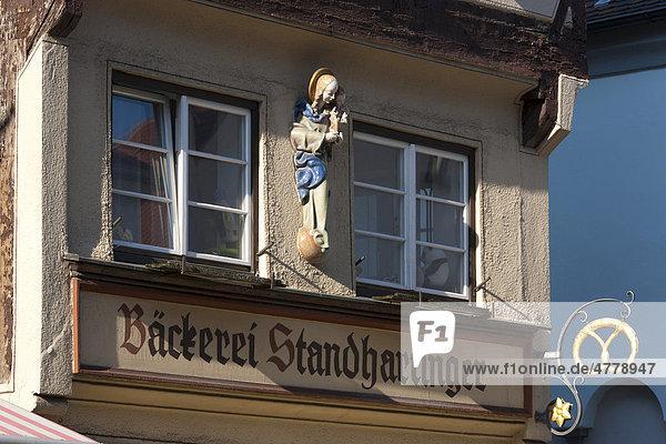 Bäckerei Standhartinger  Kalchstraße  Memmingen  Allgäu  Bayern  Deutschland  Europa