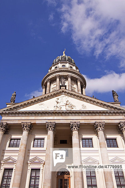 Franzoesischer Dom or French Cathedral  Gendarmenmarkt square  Mitte district  Berlin  Germany  Europe