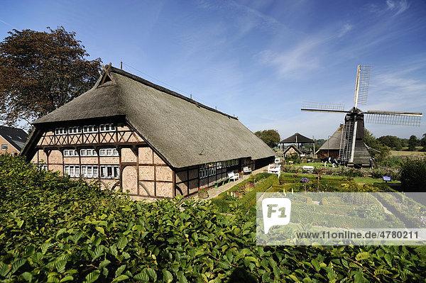 Rieck-Haus Vierländer Freilichtmuseum in Curslack  Vier- und Marschlande  Hamburg  Deutschland  Europa