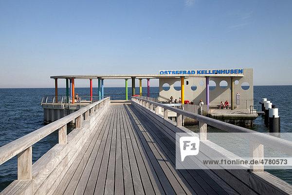 Seebrücke,  Ostseebad Kellenhusen,  Lübecker Bucht,  Ostseeküste,  Schleswig-Holstein,  Deutschland,  Europa