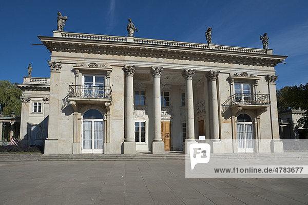 Lazienki Palast  Haus am Wasser  Lazienki Park  Warschau  Masowien  Masuren  Polen  Europa