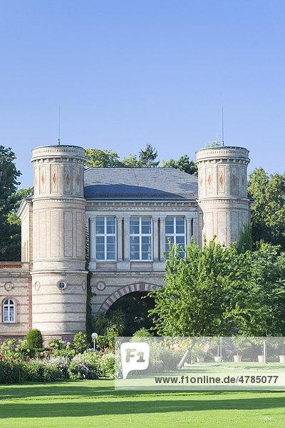 Eingang zum botanischen Garten in Karlsruhe  Baden-Württemberg  Deutschland  Europa