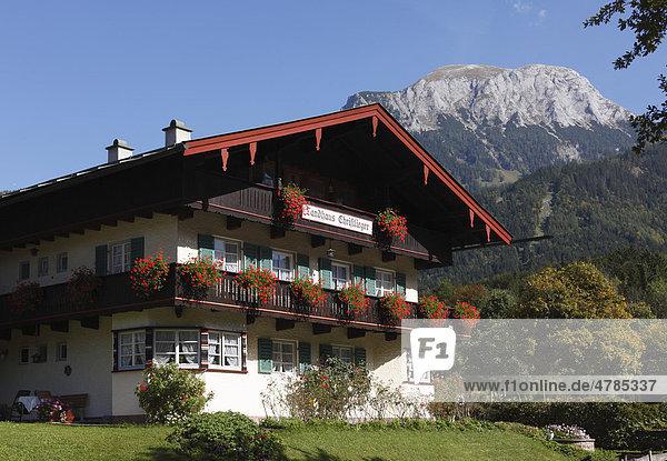 Landhaus Christlieger  Schönau am Königssee  Berchtesgadener Land  Oberbayern  Bayern  Deutschland  Europa