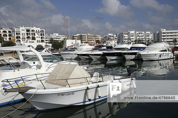 Port  Santa Eul·ria des Riu  Ibiza  Pityuses  Balearic Islands  Spain  Europe