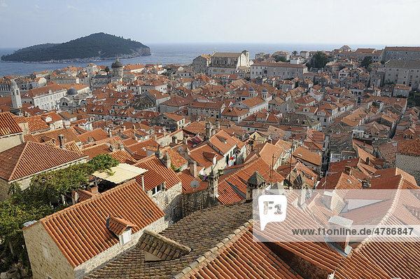Historic town  Dubrovnik  Croatia  Europe