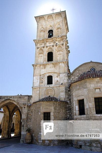 Griechisch-orthodoxes Christentum  Lazarus-Kirche  Agios-Lazaros-Kirche  Kirchturm  Larnaka  Larnaca  Südzypern  Republik Zypern  Mittelmeer  Europa