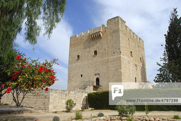 Festung der Kreuzritter  mittelalterliche Burg  Johanniter-Orden  Wohnturm  Kolossi bei Limassol  Südzypern  Republik Zypern  Mittelmeer  Europa