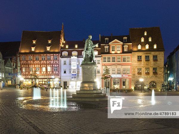 Prince Albert memorial in the market place  Coburg  Franconia  Bavaria  Germany  Europe