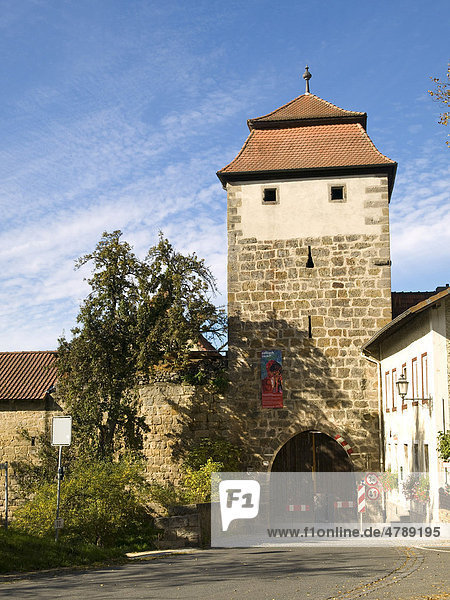 Stadttor in Seßlach  Franken  Bayern  Deutschland  Europa