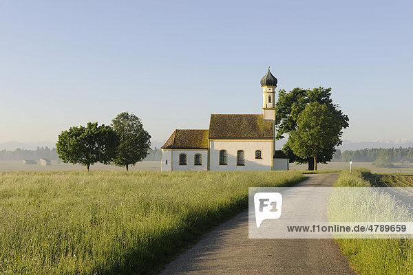 Kapelle St. Johann bei Raisting  Oberbayern  Bayern  Deutschland  Europa