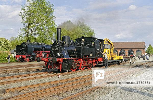 Dampflokomotiven  Deutsches Dampflokomotiv-Museum  Neuenmarkt  Franken  Bayern  Deutschland  Europa