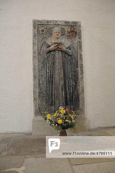 Epitaph in der Marienkirche  Katharina von Bora  Luthers Frau  Torgau  Landkreis Nordsachsen  Sachsen  Deutschland  Europa Didymus