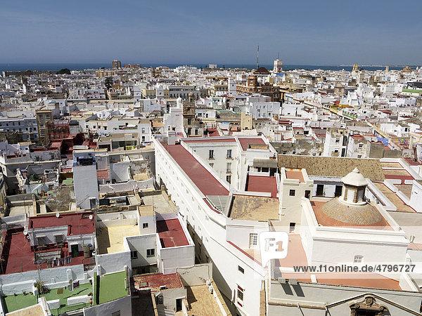 Altstadt von Cadiz  Andalusien  Spanien  Europa