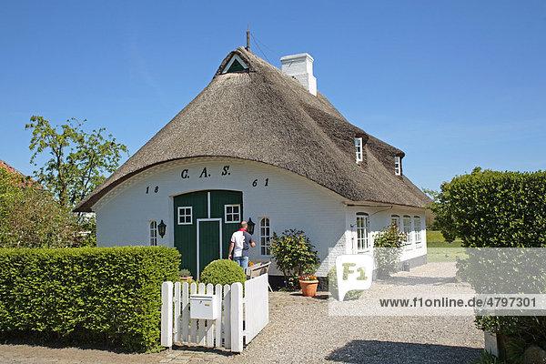 Reetdachhaus in Sieseby an der Schlei  Schleswig-Holstein  Deutschland  Europa