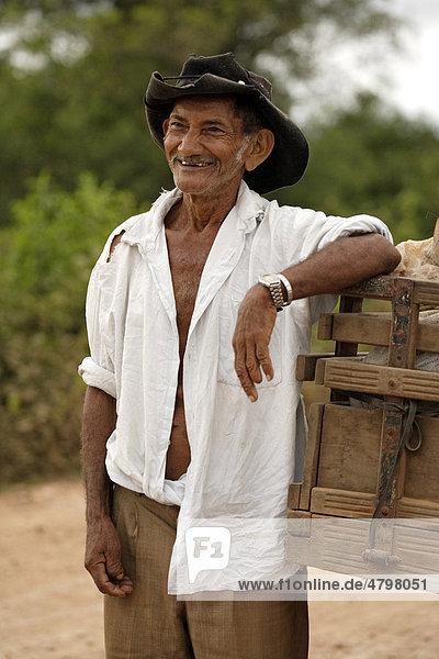 Man  portrait  Pantanal  Brazil  South America