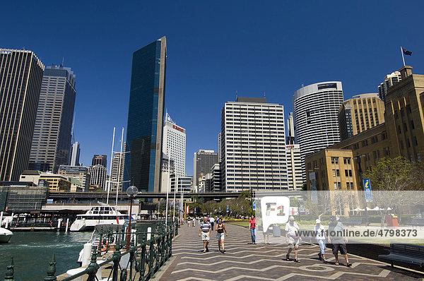 Stadtteil Circular Quay  Sydney  New South Wales  Australien