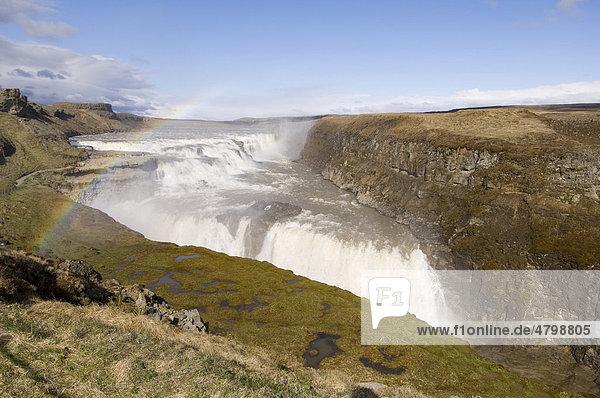 Gullfoss waterfalls  Iceland  Europe