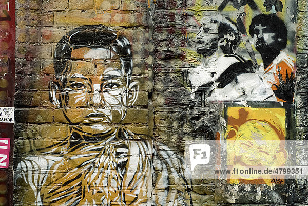 Graffitis im Zentrum  Amsterdam  Niederlande  Europa