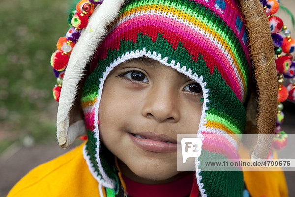 Portrait of small Bolivian boy