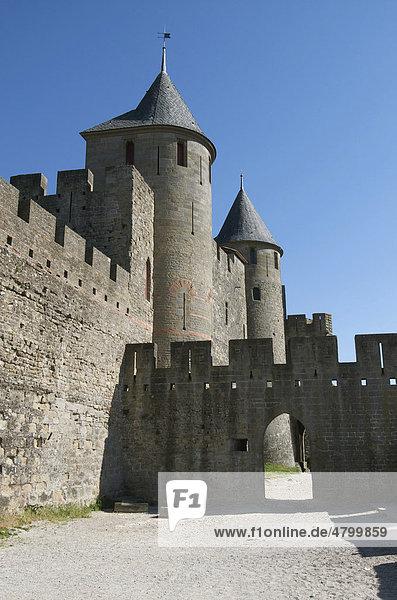 Chateau Comtal  Carcassonne  Aude  Frankreich  Europa