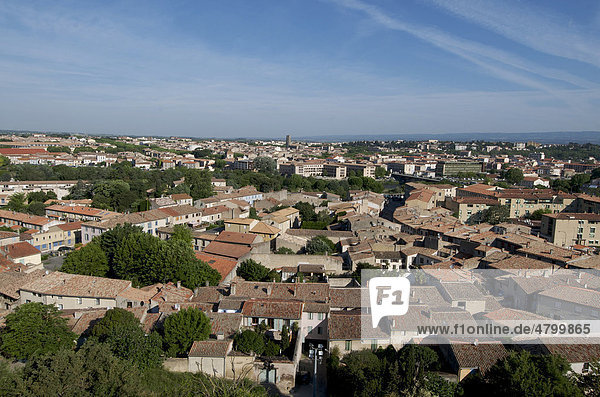 Panoramablick  Carcassonne  Aude  Frankreich  Europa
