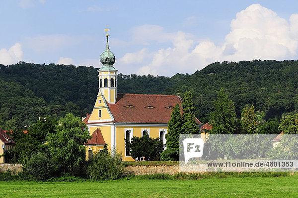 Kirche Maria am Wasser  in Dresden-Hosterwitz-Pillnitz  erbaut um 1500  Dresden  Sachsen  Deutschland  Europa