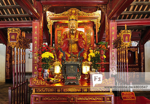 Tempel der Literatur  Altar  Hanoi  Vietnam  Südostasien