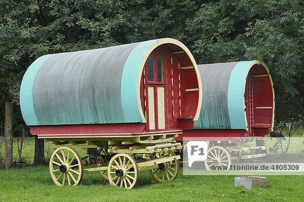 Planwagen der Minderheit Traveller  Bunratty Folk Park  Ennis  Shannon-Region  Irland  Europa