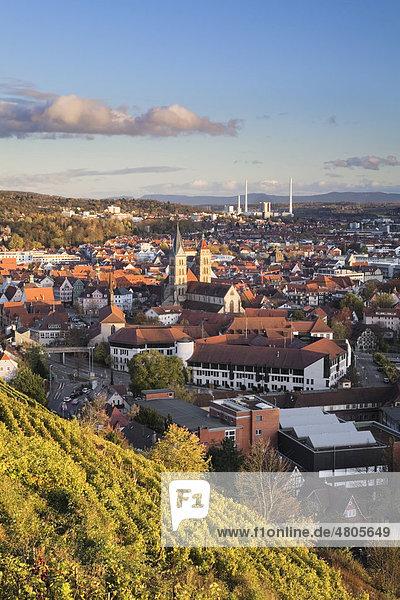 Aussicht auf Esslingen am Neckar  Baden-Württemberg  Deutschland  Europa