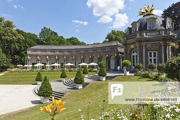 Neues Schloss und Orangerie  Eremitage in Bayreuth  Oberfranken  Franken  Bayern  Deutschland  Europa