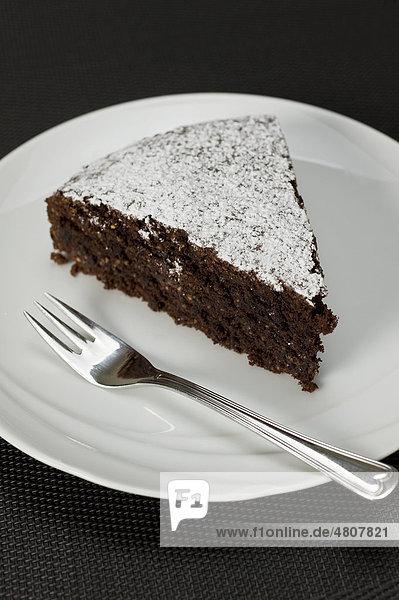 Haselnuss-Schoko-Kuchen  Dessertkuchen - Rezeptdatei vorhanden