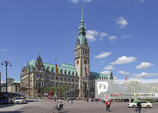 Rathaus  Hamburg  Deutschland  Europa