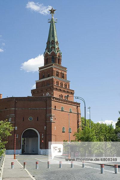 Borowizki-Turm  Kreml  Moskau  Russland