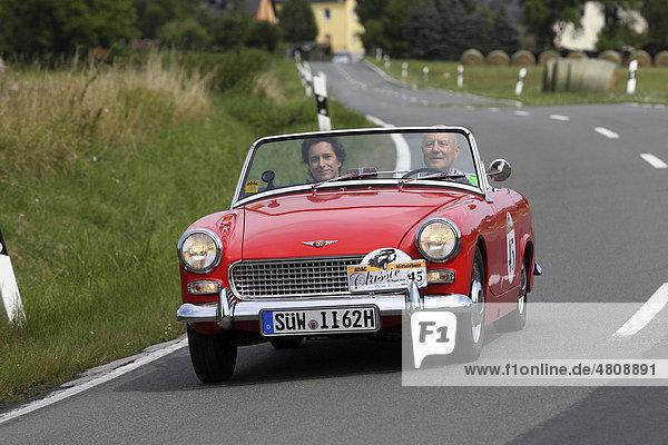 Oldtimer-Rallye ADAC Mittelrhein-Classic 2010  Austin Healey MKI  Bornich  Rheinland-Pfalz  Deutschland  Europa
