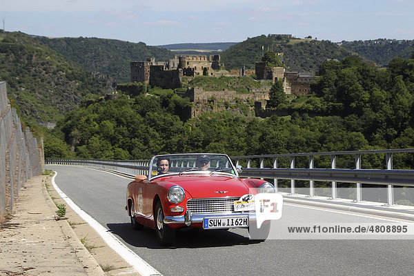 Oldtimer-Rallye ADAC Mittelrhein-Classic 2010  Austin Healey MKI  St. Goar  Rheinland-Pfalz  Deutschland  Europa Oldtimer-Rallye ADAC Mittelrhein-Classic 2010, Austin Healey MKI, St. Goar, Rheinland-Pfalz, Deutschland, Europa