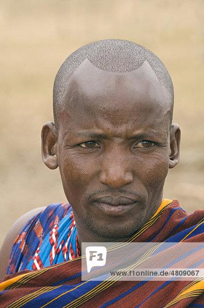 Maasai-Mann in Arusha  Tansania  Afrika