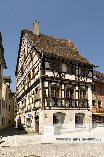 Historisches Gebäude an der Schmiedstraße  Wangen  Allgäu  Baden-Württemberg  Deutschland  Europa