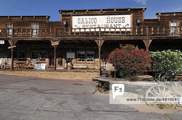 Calico House  Geisterstadt  Ghost Town Calico  Yermo  California  USA  Nordamerika