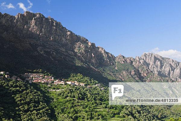 Ota  Gorges de Spelunca  Korsika  Frankreich  Europa