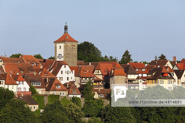Siebersturm  Rothenburg ob der Tauber  Romantische Straße  Mittelfranken  Franken  Bayern  Deutschland  Europa
