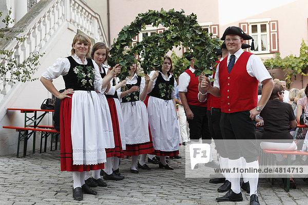 Weinfest  Iphofen  Mainfranken  Unterfranken  Franken  Bayern  Deutschland  Europa