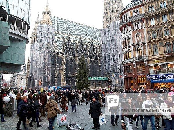 -Stephanplatz Cathedral- Wien (Austria).