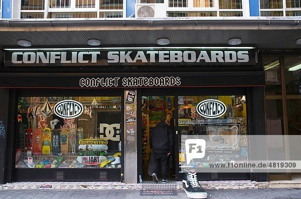 Conflict Skateboards shop Malasana district central Madrid Spain Europe