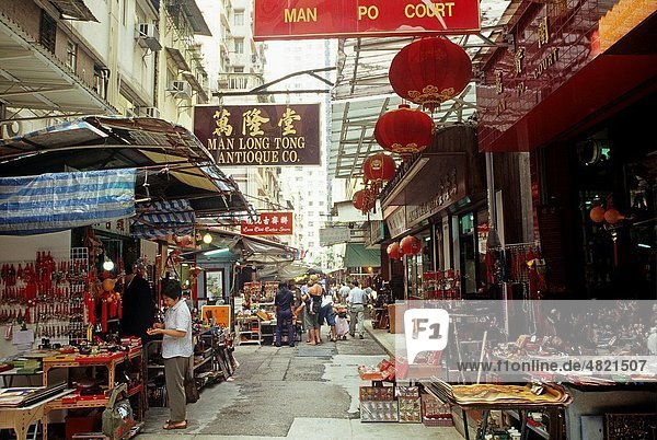 market of Cat Street in Mid-levels area  Hong-Kong Island  People´s Republic of China  Asia