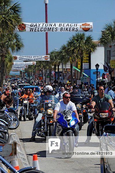 Daytona Beach Florida Motorcycle Bike Week Festival Daytona Bike Week also called Daytona Beach Bike Week  is a motorcycle event and rally held annually in Daytona Beach  Florida Approximately 500 000 people make their way to the rally area for the 10-da