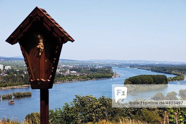 Europa  Deutschland  Rheinland-Pfalz  Blick auf die Rheinschlucht Europa, Deutschland, Rheinland-Pfalz, Blick auf die Rheinschlucht