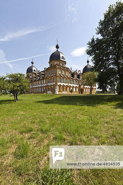 Schloss und Park Seehof  Memmelsdorf  Oberfranken  Bayern  Deutschland  Europa