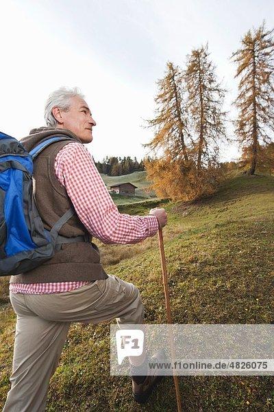 Italien  Südtirol  Reife Männer beim Dolomitenwandern